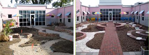 Garden construction - March 2005