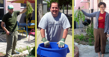 Volunteers help with spring cleaning